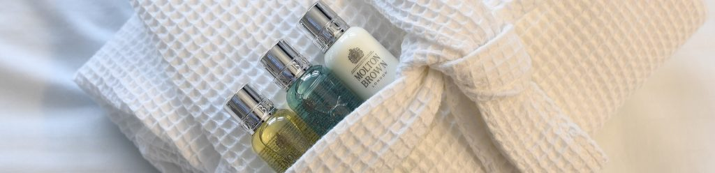 Close up of Molton Brown toiletries